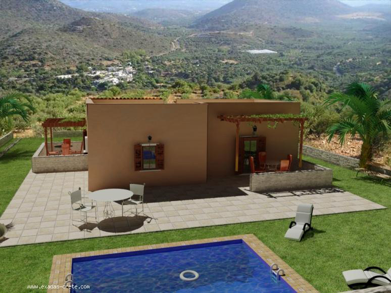 Detached off-plan house close to the beach, now on 1100 sq.m plot  with amazing  view! 115.000 euro