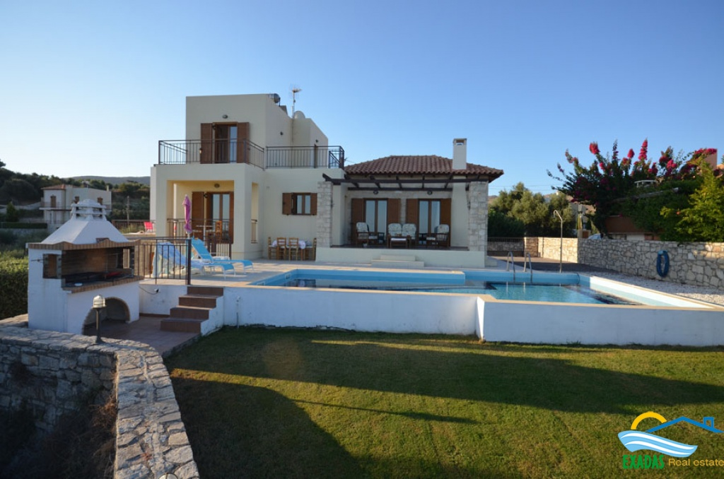 Luxury villa of 4 brs and 3 baths for sale in Agia Triada, near Rethymno city and the beach