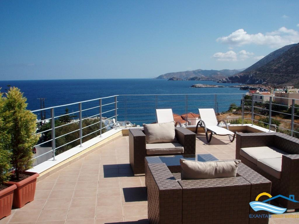 Seaside apartment with amazing view for sale in Bali, Rethymnon, Crete